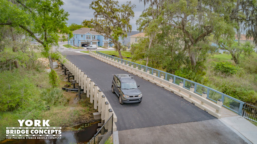 Bridgehaven at Citrus Park Timber Vehicular Bridge | Tampa, FL | York Bridge Concepts