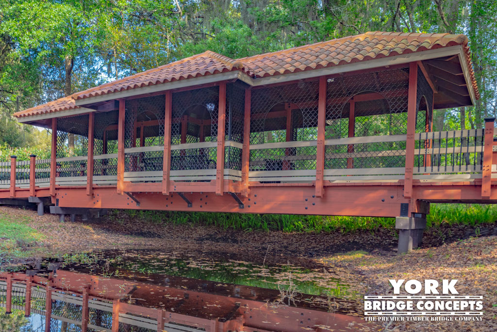 Sienna Village Covered Timber Boardwalk - Lutz, FL | York Bridge