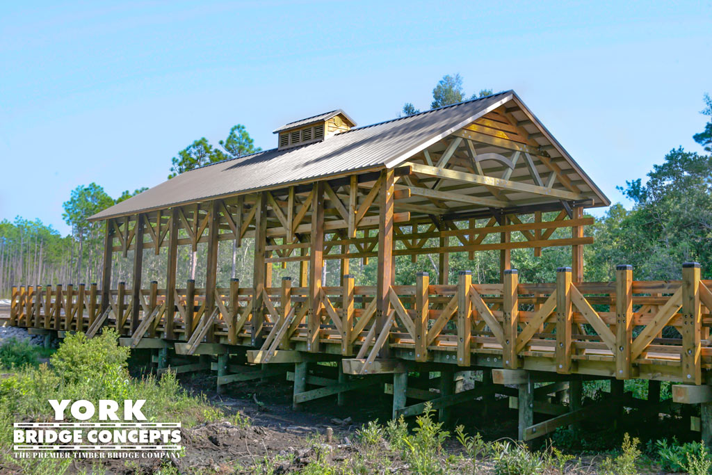 Woodlands Park Vehicular Covered Bridge Southport Nc York Bridge