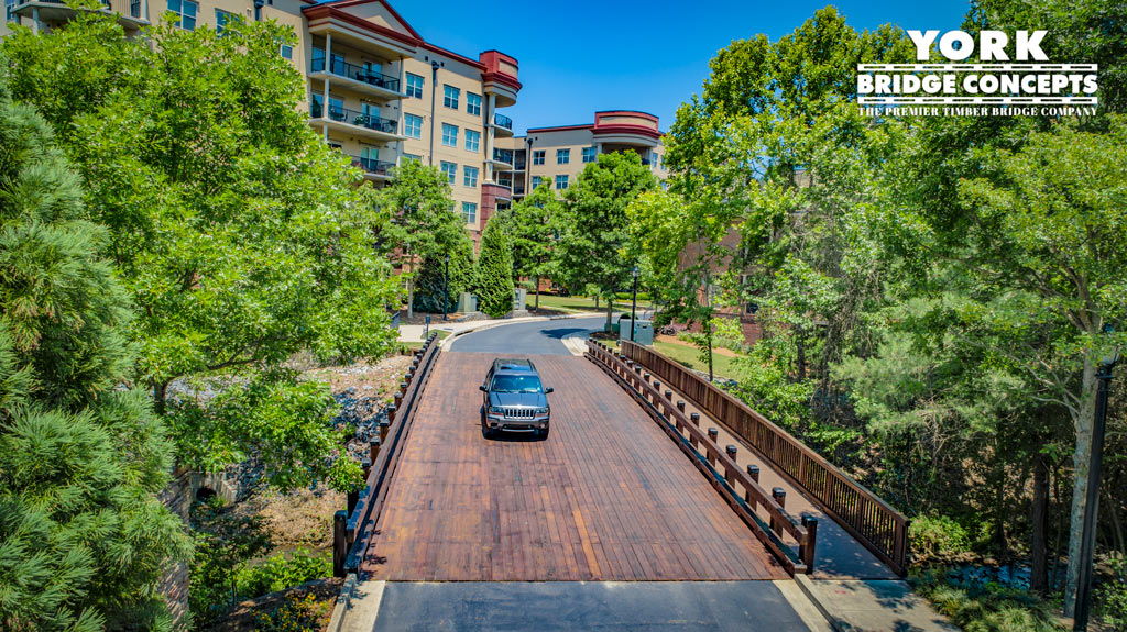 One River Place Timber Vehicular Bridge - Atlanta, GA | York Bridge Concepts