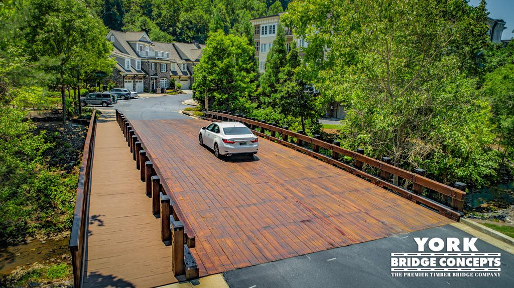 One River Place Timber Vehicular Bridge - Atlanta, GA | York Bridge Concepts