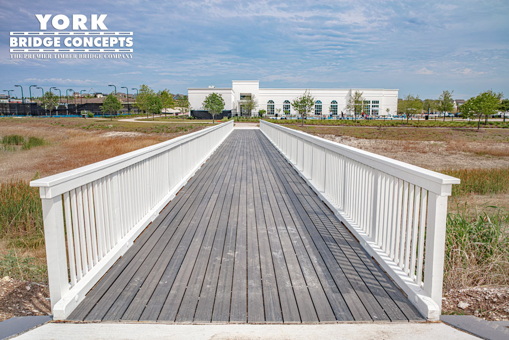 Walsh Timber Pedestrian Bridge - Ft. Worth, TX | York Bridge Concepts
