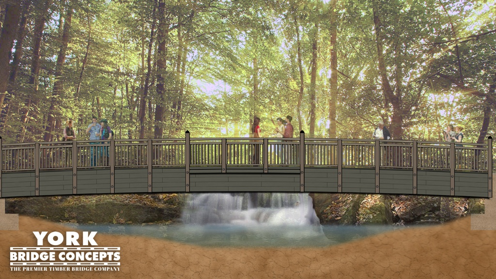Pedestrian Bridge Concept | Timber Bridge Design | Bridge Plans