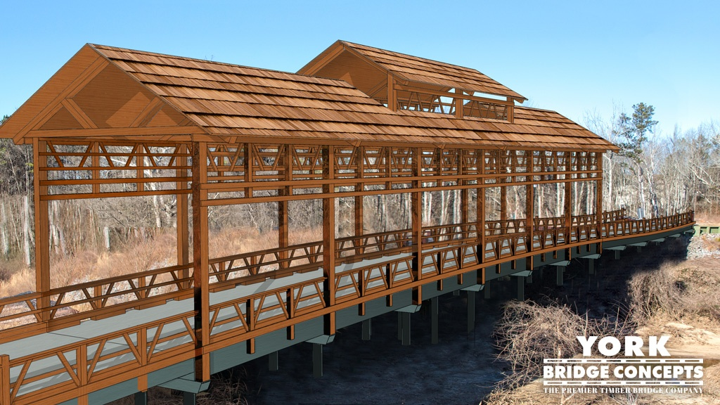 Covered Bridge Concept | Timber Bridge Design | Bridge Plans