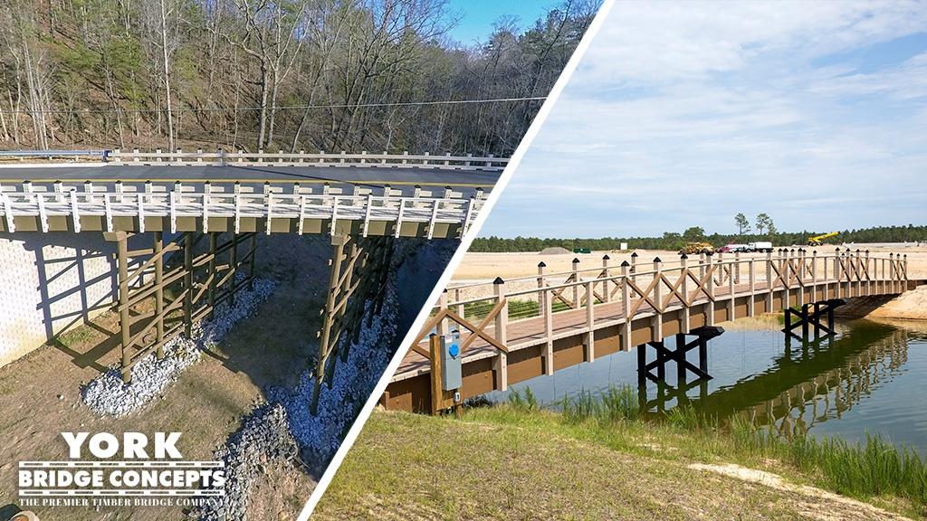 Multiple Long Span Timber Bridges