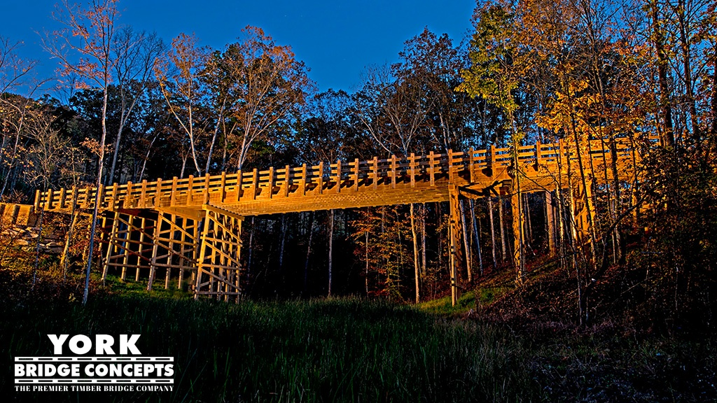 Timber Bridges Built in Limited Access AReas