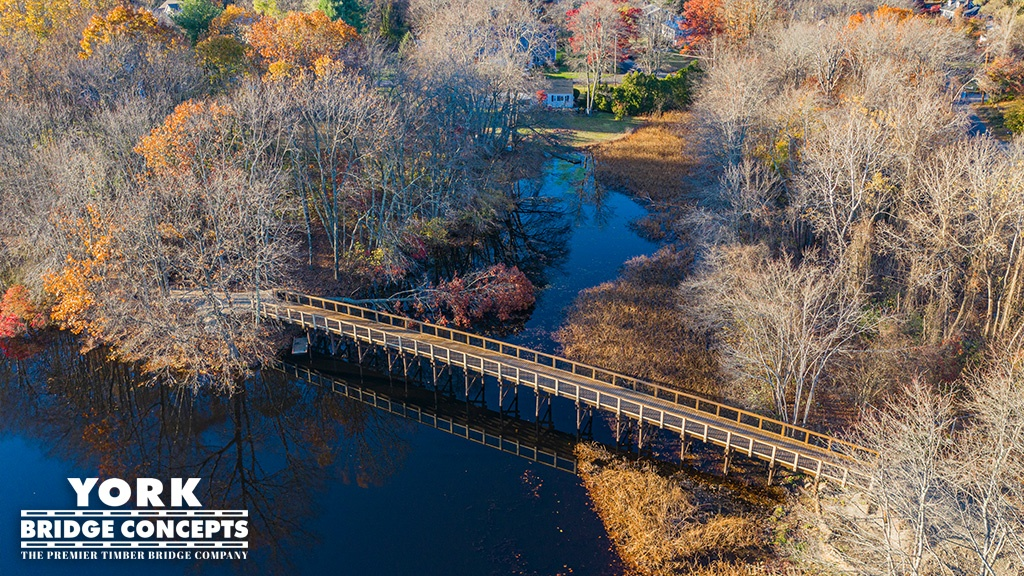 Sudbury Inlet Timber Pedestrian Bridge - Ashland, MA | York Bridge