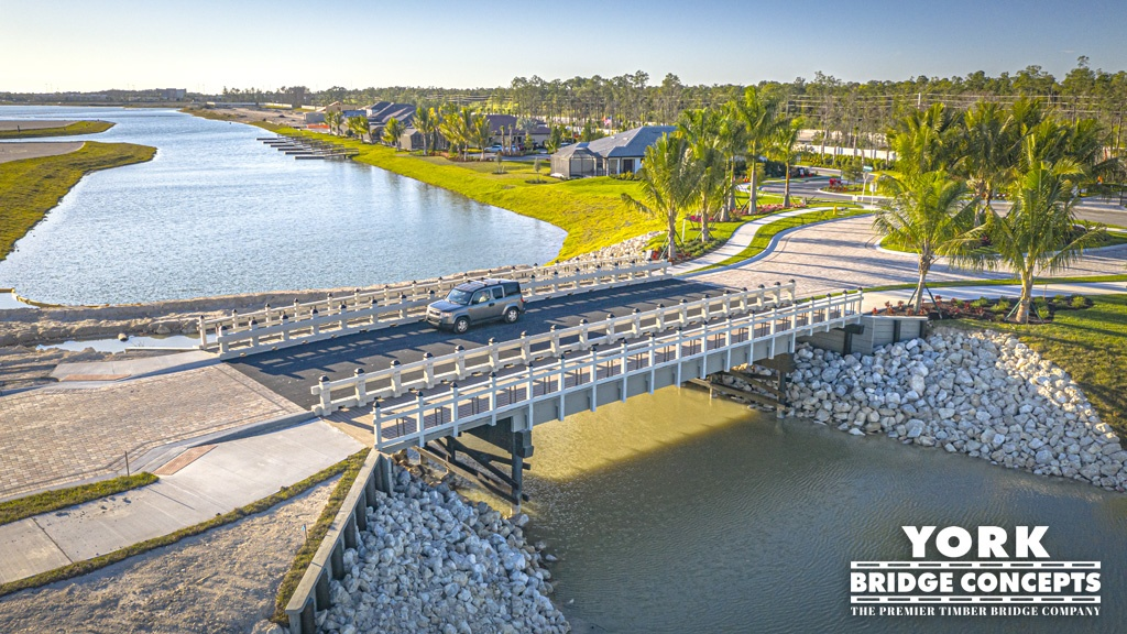 Esplanade Lake Club Timber Vehicular Bridge - Fort Myers, FL | York Bridge Concepts