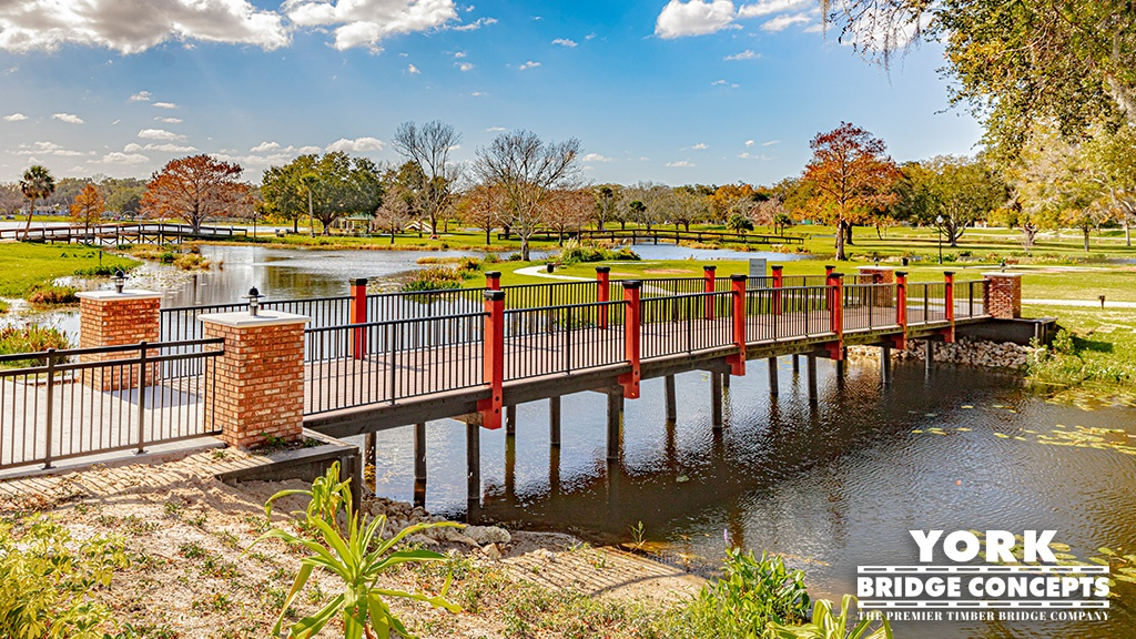 Venetian Gardens Timber Footbridge - Leesburg, FL | York Bridge Concepts