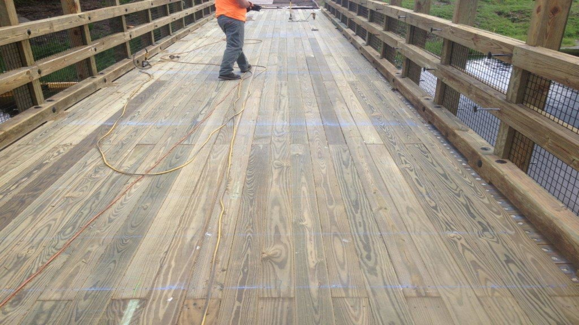 Tranquilo Golf Cart Bridge - Construction Process (23)