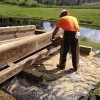 Tranquilo Golf Cart Bridge - Construction Process (7)