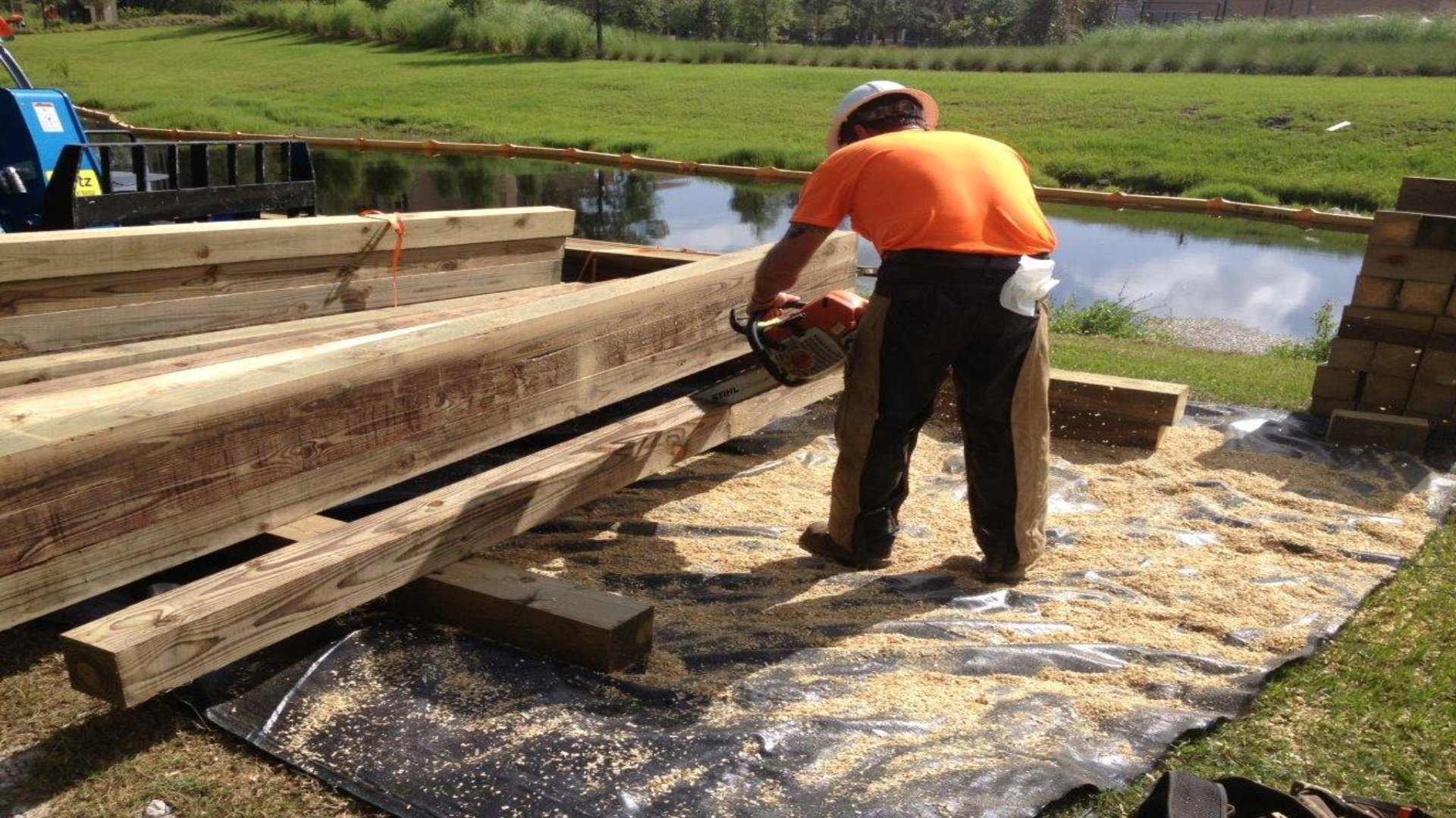 Tranquilo Golf Cart Bridge - Construction Process (7)