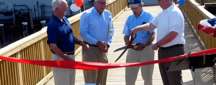 Celebrating Whitney Wharf Bridge at Hingham Harbor
